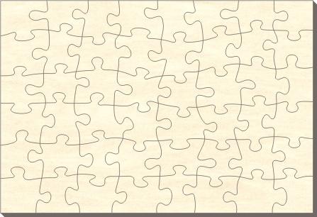 blankopuzzle rechteck 38x28 48 teile puzzle net. Black Bedroom Furniture Sets. Home Design Ideas