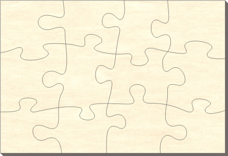 blankopuzzle rechteck 76x56 12 teile puzzle net. Black Bedroom Furniture Sets. Home Design Ideas