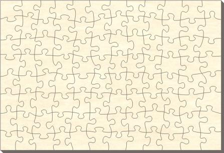 Blankopuzzle Rechteck, 76x56, 96 Teile - Puzzle-Net