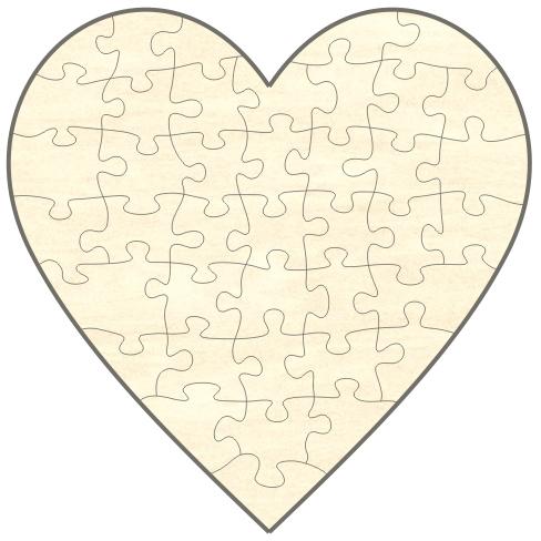 """Fotopuzzle-Herz mit eigenem Foto selbst gestalten, Puzzle """"Herz"""" mit ..."""