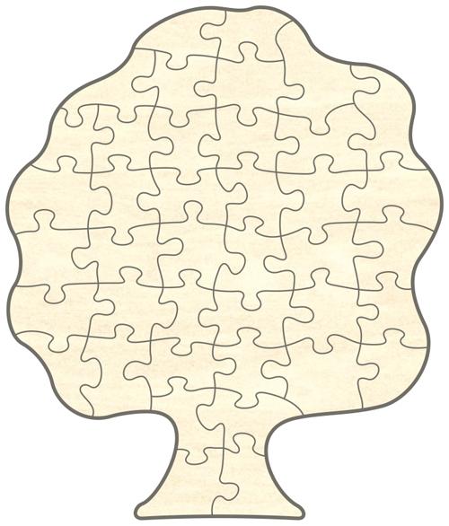 blankopuzzle baum 39x46 40 teile puzzle net. Black Bedroom Furniture Sets. Home Design Ideas