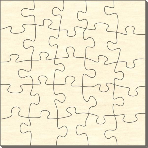 blankopuzzle quadrat 58x58 25 teile puzzle net. Black Bedroom Furniture Sets. Home Design Ideas