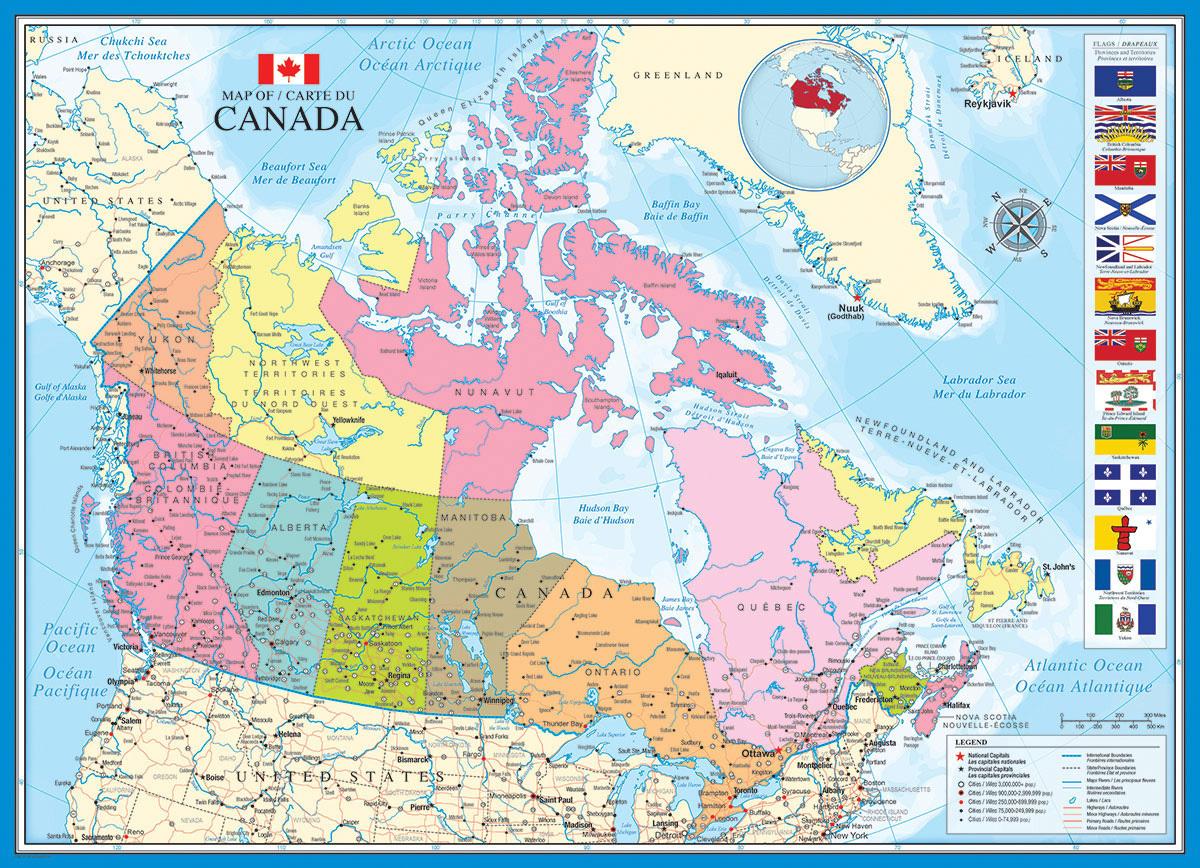 karte von kanada Puzzle Karte von Kanada   Puzzle Net