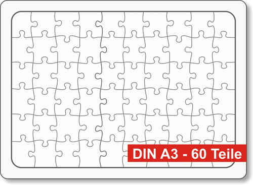 Rahmen-Blanko-Puzzle DIN fast A3 - 3er-Pack - Puzzle-Net