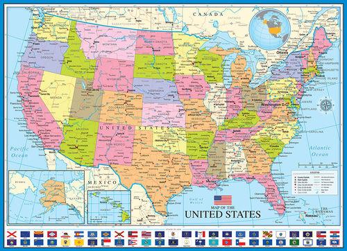 Karte Usa.Puzzle Karte Der Usa
