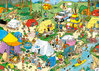 Puzzle Camping im Wald